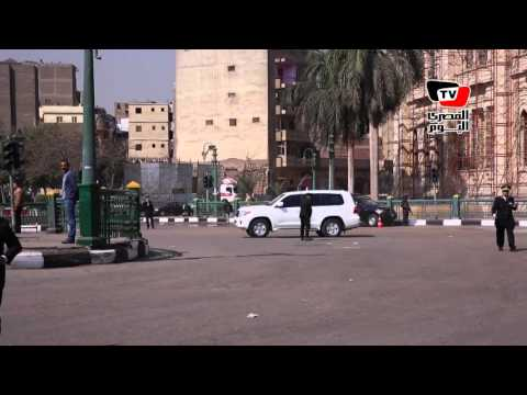 لحظة وصول موكب وزير الداخلية لافتتاح مديرية أمن القاهرة
