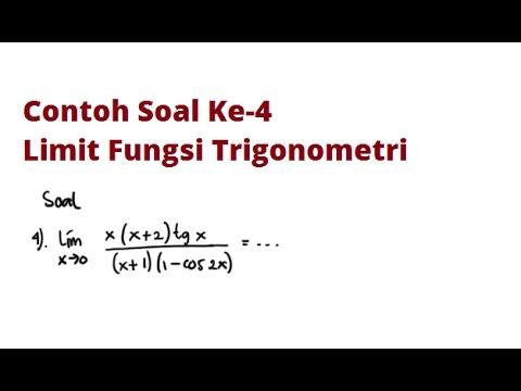 Limit Fungsi Trigonometri - Contoh 4
