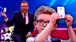 Real-Life Harry Potter Burns Judge on Stage on Ireland's Got Talent | Magicians Got Talent