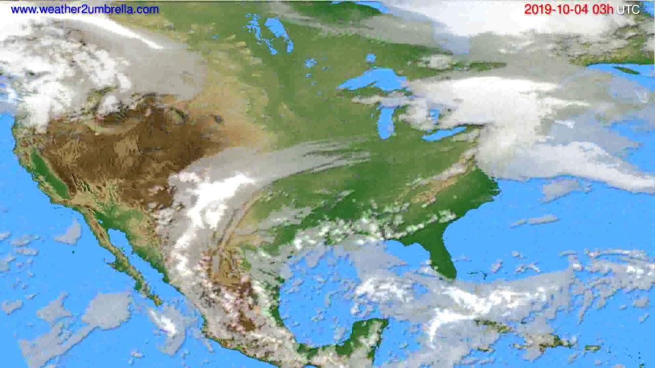 Cloud forecast USA & Canada // modelrun: 00h UTC 2019-10-01