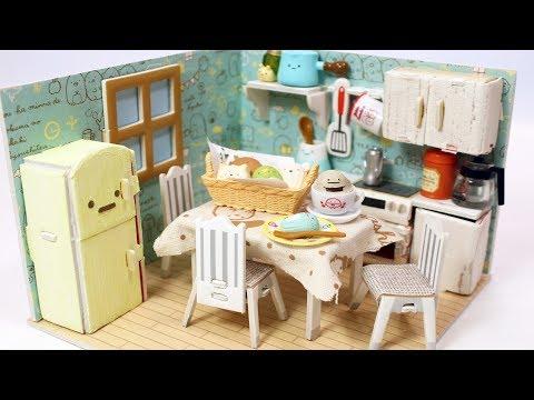 DIY Miniature Dollhouse 100均のドールハウスをすみっコぐらし風にリメイクしてみた☆[ミニチュア]