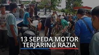13 Sepeda Motor Modifikasi Terjaring di Antrean SPBU Kota Padang, Tanpa Dokumen Diserahkan ke Polisi