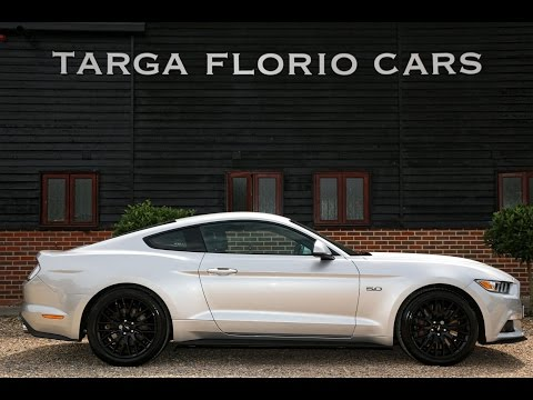 Ford Mustang GT 5.0 V8 Automatic in Ingot Silver with Full Black Ebony Leather