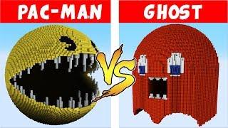 PAC-MAN  vs GHOST – PvZ vs Minecraft vs Smash