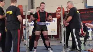 preview picture of video 'Sascha Stendebach (KSV Mainz) Kniebeugen 3.V.: 312,5 kg DR - 2014 DM KDK Junioren'
