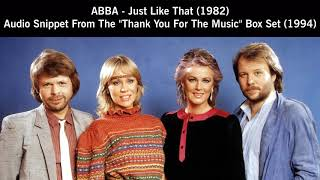 ABBA - Just Like That (1982) - Officially Released Snippet of Sax Version