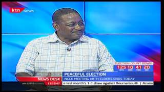 Former ECK commissioner Amb. Jack Tumwa on peaceful elections