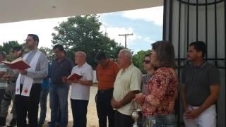 Padre Rodrigo no Culto Ecumênico de inauguração da expansão do cemitério de Goianésia, em 30/12/2016