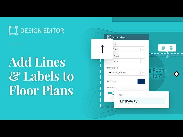Add Lines & Arrows to Floor Plans