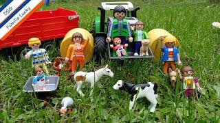 Playmobil Film deutsch - Auf dem Bauernhof mit Familie Lucky - Kinderfilm Pferde Katze Hund Traktor