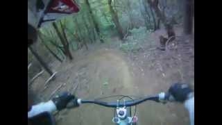 Private DH FREERIDE trail in the 831.