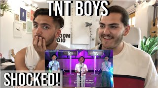 Twin Musicians REACT - TNT Boys sing Flashlight - TNT Versions