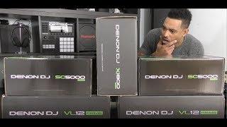 Denon DJ PRIME Setup Unboxing Video (SC5000/X1800/VL12)