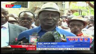 NASA principles currently meeting the IEBC as they split on primaries