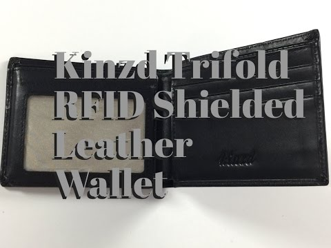 Download Kinzd Trifold RFID Shielded Leather Wallet Mp4 HD Video and MP3