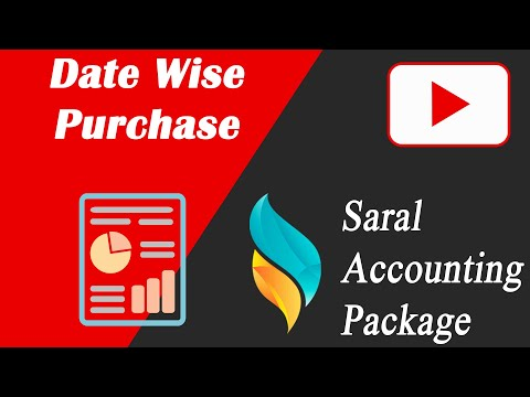 Date Wise Purchase in Saral Accounting Package