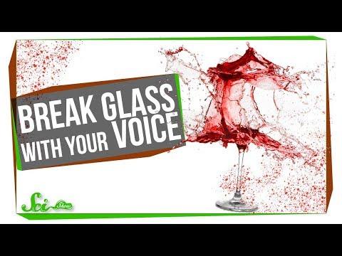 Můžeme rozbít sklenici svým hlasem?