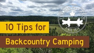 10 Tips for Backcountry Camping