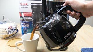 Black + Decker 12 Cup Programmable Coffeemaker Demo