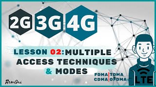 Digital Wireless Communications 2G/3G & 4G LTE | L02: FDMA / TDMA / CDMA /OFDMA & TDD / FDD