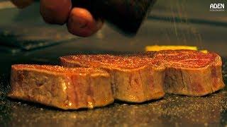 Rare Wagyu Beef - Teppanyaki in  Kyoto Japan