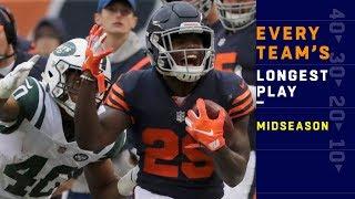 Every Team's Longest Play at Midseason! | NFL Highlights