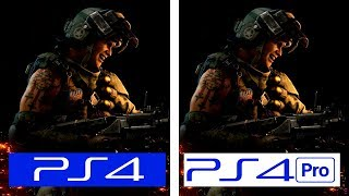Call of Duty Black OPS 4 | PS4 vs PS4 Pro | 4K Graphics & Framerate Test Comparison