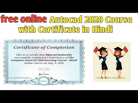 Free online Autocad 2020 course with Certificate   certification ...