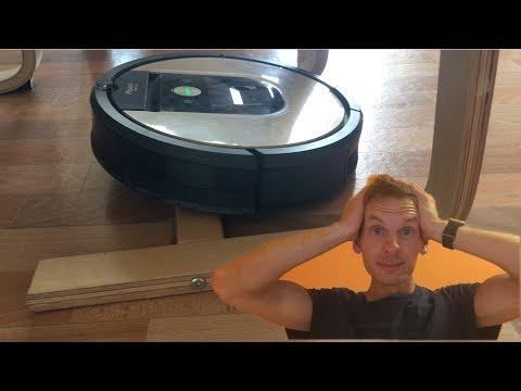 iRobot Saugroboter besteigt meinen Schwingstuhl  -  Lösung 👍 2018 4K