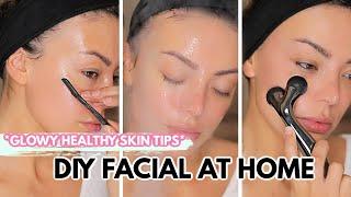 ASMR DIY AT HOME FACIAL *how I Keep My Skin Healthy & Glowy* (RELAXING)- Dilan Sabah