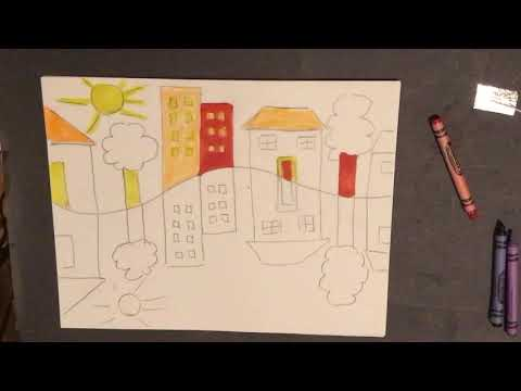 How to draw a topsy turvey picture