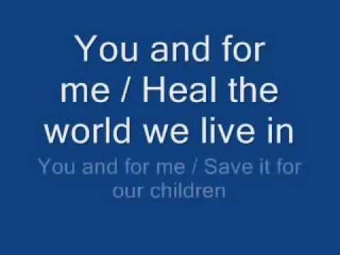 Download michael jackson - heal the world lyrics HD Mp4 3GP Video and MP3