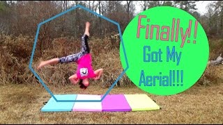 First Aerial EVER On Grass!! | Self-Taught Gymnast