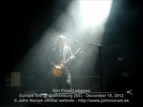 John Norum: Girl From Lebanon @ Gothenburg (SE) - December 15, 2012
