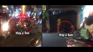 Đoạn video người dân quay lại diễn biến vụ cướp xe SH đâm hiệp sĩ trên đường CMT8