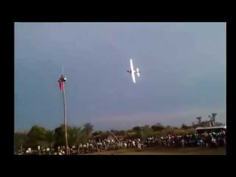 boom    , plane falling down to the ground at the festival