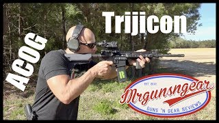 Trijicon TA02 ACOG 4x Battery Illuminated LED Combat Optic Review (HD)