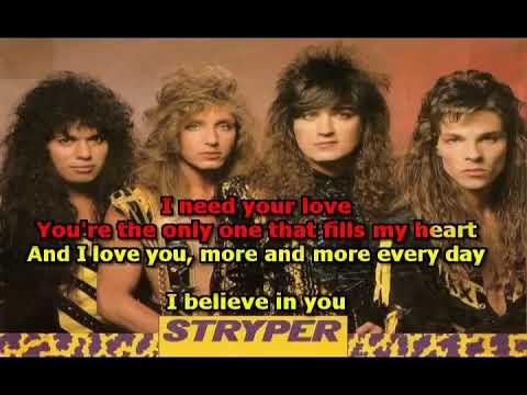 Stryper - I Believe In You (Karaoke) [Best version]