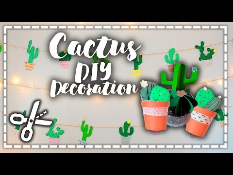 Cactus DIY Decoration – A decorar!
