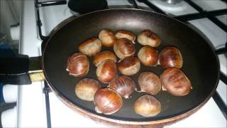 Как жарят каштаны в Турции, kestane pişirme