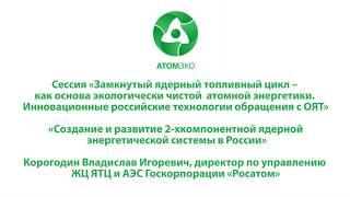 Создание и развитие 2-х компонентной ядерной энергетической системы в России