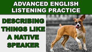 Describing Things Like Native Speakers - Advanced English Listening Practice - 41