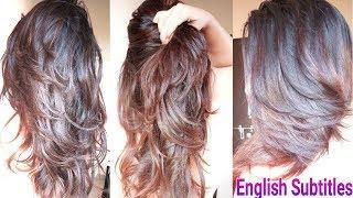 3 Step DIY Deep Layer Cut At Home | How To Trim HairCut In Hindi | AlwaysPrettyUseful