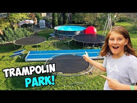 Wir bauen unseren EIGENEN TRAMPOLIN PARK im Garten!