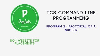 Command Line Program - 2 Factorial of a number