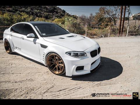 BMW 5-Series| Black di Forza BM14-L | Savini Wheels | Prior-Design