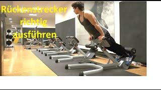 Rückenstrecker richtig ausführen | Unteren Rücken richtig trainieren