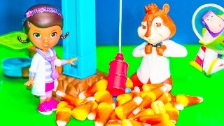 Alvin And The Chipmunks Meet Doc McStuffins In A Funny Toys Parody