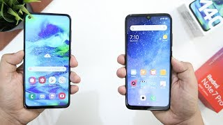 Samsung Galaxy M40 Vs Redmi Note 7 Pro SpeedTest Comparison(Snapdragon 675 Battle)
