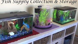 My Fish Supplies Collection & Organization